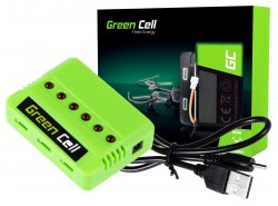 Green Cell Caricabatteria RC per Syma Hubsan JJRC Wltoys 3.7V