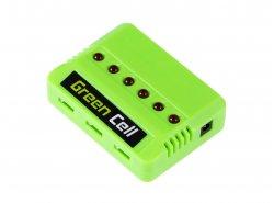 Caricabatterie Green Cell ® per Drohnenbatterien/Hubschrauber Sym Hubsan JJRC Wltoys Über die Spannung 3.7V