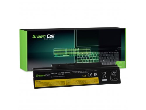 Green Cell ® Batteria 45N1758 45N1759 per Portatile Laptop Lenovo ThinkPad Edge E550 E550c E555 E560 E565