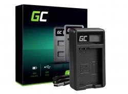 Caricabatterie Fotocamera MH-24 Green Cell ® per Nikon EN-EL14, D3200, D3300, D5100, D5200, D5300, D5500, Coolpix P7000, P7700