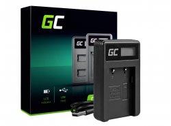 Caricabatterie Fotocamera CB-2LW Green Cell ® per Canon NB-6L/6LH, PowerShot SX510 HS, SX520 HS, SX530 HS, SX600 HS, SX700 HS