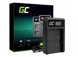 Caricabatterie Fotocamera LC-E6 Green Cell ® per Canon LP-E6, EOS 70D, 5D Mark II/ III, 80D, 7D Mark II, 60D, 6D, 7D
