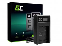 Caricabatterie Fotocamera BC-CSG Green Cell ® per Sony NP-BG1/NP-FG1, DSC H10, H20, H50, HX5, HX10, T50, W50, W70