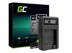 Caricabatterie Fotocamera LI-50C Green Cell ® per Olympus LI-50B, SZ-15, SZ-16, Tough 6000, 8000, TG-820, TG-830, TG-850