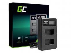 Caricabatterie Fotocamera AHBBP-401 Green Cell ® per GoPro AHDBT-401, HD Hero4
