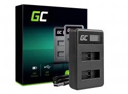 Caricabatterie Fotocamera AHBBP-501 Green Cell ® per GoPro AHDBT-501, HD Hero5, HD Hero6+
