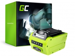 Green Cell® Batteria (4Ah 40V) G-MAX 40V 29717 29727 G40B2 G40B4 per GreenWorks 40V Series 20077 20117 1301507 2500207 2504807