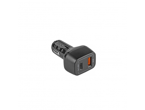 Caricabatteria per auto USB-C Power Delivery + USB Quick Charge 3.0 Green Cell