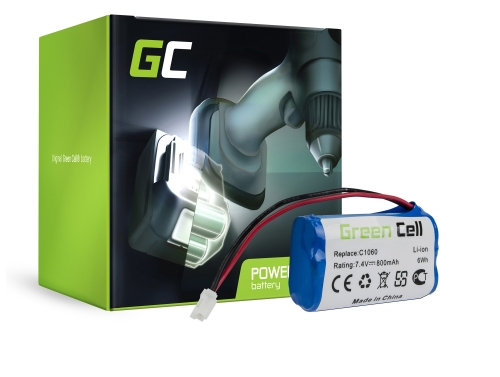 Batteria Green Cell (0.8Ah 7.4V) 01866-00.600.02 Gardena 01864-29 01866-29 01815-20 1815-U 1864-29 1866-29 Plus Solar