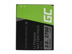 Green Cell ® Batteria BL259 per Lenovo K3 K5 K5 Plus C2 Lemon 3