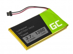 Batteria Green Cell ® Topaz per GPS Navigon 70 Plus 70/71 Plus 70/71 Premium 70/71 Easy, Li-Polymer Celle 1200mAh 3.7V