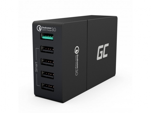 Caricatore Green Cell ® con 5-Port USB, Qualcomm Quick Charge 3.0
