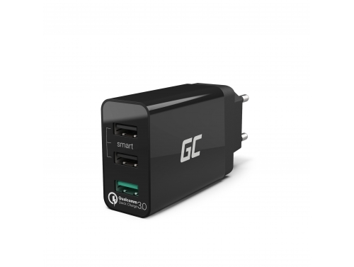 Caricatore Green Cell ® con 3-Port USB, Qualcomm Quick Charge 3.0