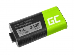 Green Cell Batteria 533-000116 533-000138 S-00147 per altoparlante MEGABOOM S-00147 UE Ultimate Ears, 7.4V 3400mAh