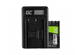 Green Cell ® Batteria EN-EL9 / EN-EL9E e Caricabatterie MH-23 per Nikon D-SLR D40 D40A D40C D40X D60 D3000 D5000