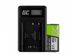 Green Cell ® Batteria NP-BG1 e Caricabatterie BC-CSG per Sony DSC H10, H20, H50, HX5, HX10, T50, W50, W70