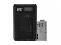 Green Cell ® Batteria LP-E5 e Caricabatterie LC-E5 per Canon EOS 450D 500D 1000D Kiss Rebel