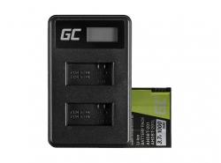 Green Cell ® Batteria AHDBT-201 e Caricabatterie AHBBP-301 per GoPro Hero HD 3 3+ Black Silver White