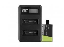 Green Cell ® Batteria AHDBT-401 e Caricabatterie AHBBP-401 per GoPro Hero 4 Black Silver 1100mAh