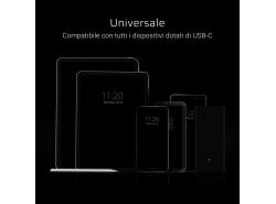 Cavo GCmatte USB-C Piatto 25 cm  con supporto di caricamento veloce