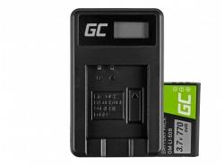 Green Cell ® Batteria Li-50B e Caricabatterie Li-50C per Olympus SZ-15, SZ-16, Tough 6000, 8000, TG-820, TG-830, TG-850