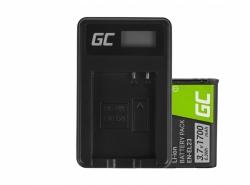 Green Cell ® Batteria EN-EL23 e Caricabatterie MH-67 per Nikon Coolpix B700, P600, P610, P900, S810C