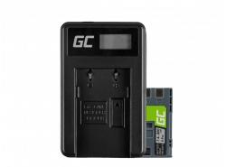 Green Cell ® Batteria LP-E6 e Caricabatterie LC-E6 per Canon EOS 70D, 5D Mark II/ III, 80D, 7D Mark II, 60D, 6D, 7D 7.4V 1900mAh