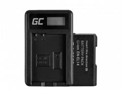 Green Cell ® Batteria EN-EL14 e Caricabatterie MH-24 per Nikon D3200, D3300, D5100, D5200, D5300, D5500 P7000, P7700