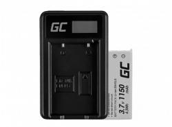 Green Cell ® Batteria EN-EL5 e Caricabatterie MH-61 per Nikon Coolpix P100, P500, P530, P520