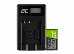 Green Cell ® Batteria NP-BN1 e Caricabatterie BC-CSN per Sony Cyber-Shot DSC-QX10 DSC-QX100 DSC-TF1 DSC-TX10 DSC-W530