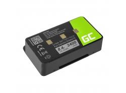 Green Cell ® Batteria 010-10517-00 011-00955-00 per GPS Garmin GPSMAP 276 296 376 376c 396 495 496