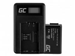 Green Cell ® Batteria EN-EL3 e Caricabatterie MH-18 per Nikon DSLR D100 D200 D300 D50 D70 D80