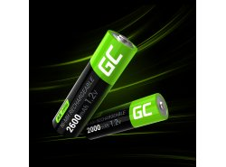2x AA batterie ricaricabili 2600mAh HR6 Green Cell