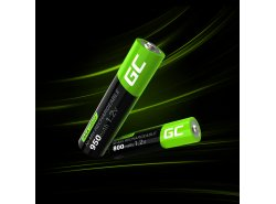 Green Cell 2x AAA HR03 800mAh Batteria