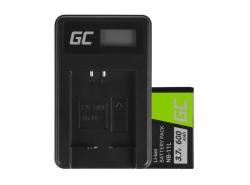 Green Cell Batteria NB-11L e Caricabatterie CB-2LD per Canon IXUS 125 HS 285 HS PowerShot A2300 PowerShot ELPH