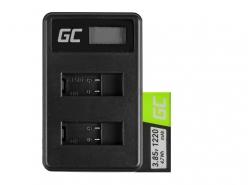 Green Cell ® Batteria e Caricabatterie AHDBT-501 AABAT-001 per GoPro HD HERO5 HERO6 HERO7 Black 3.85V 1220mAh