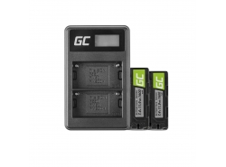 Green Cell ® Batteria NP-500 e Caricabatterie BC-V615 per Sony A58, A57, A65, A77, A99, A900, A700, A580