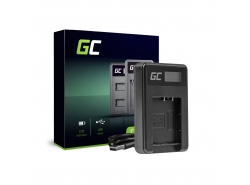 Caricabatterie Fotocamera DE-A65BB Green Cell per Panasonic DMW-BCG10 Lumix DMC-TZ10 DMC-TZ20 DMC-TZ30 DMC-ZS5 DMC-ZS10 DMC-ZX1