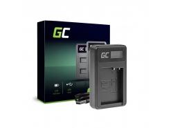 Caricabatterie Fotocamera DE-A79B Green Cell ® per Panasonic FZ2000, G81, FZ1000, FZ300, G6M, GX8M, G70M, G70KA, GX8EG-K, GX8