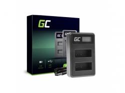 Caricabatterie Fotocamera BC-V615 | AC-VL1 Green Cell ® per Sony A58, A57, A65, A77, A99, A900, A700, A580, A56, A55,0 A850