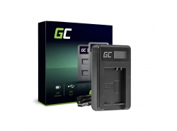 Caricabatterie Fotocamera CB-2LCE Green Cell per Canon NB-10L PowerShot G15, G16, G1X, G3X, SX40 HS, SX40HS, SX50 HS