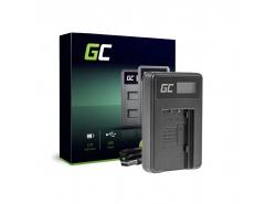Caricabatterie Fotocamera VW-BC10 Green Cell per Panasonic VW‑VBT190 HC-250 HC-V130 HC-V510 HC-V770 HC-W580 HC-WX970