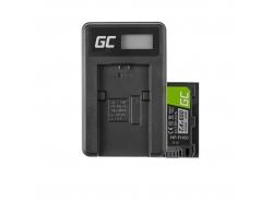 Green Cell ® Batteria NP-FH50 per Sony DCR-HC45, DCR-SR300E, DCR-SR70, DCR-SX50E 7.4V 650mAh