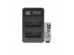 Green Cell ® Batteria LP-E8 e Caricabatterie LC-E6 per Canon PowerShot G15 G16 G1X G3X SX40 HS SX40HS SX50 HS 7.4V 800mAh
