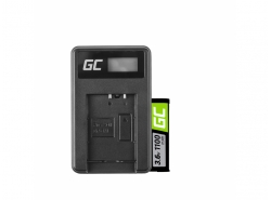 Green Cell ® Batteria NP-BX1 e Caricabatterie BC-TRX per Sony Action Cam HDR-AS10 HDR-AS20 HDR-AS300 HDR-AS50 FDR-X1000V