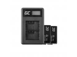 Green Cell ® 2x Batteria EN-EL3 e Caricabatterie MH-18 per Nikon DSLR D100 D200 D300 D50 D70 D80