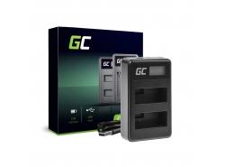 Caricabatterie Fotocamera LC-E8 Green Cell per Canon LP-E8 EOS Rebel T2i, T3i, T4i, T5i, 600D, 550D, 650D, 700D, Kiss X5, X4, X6