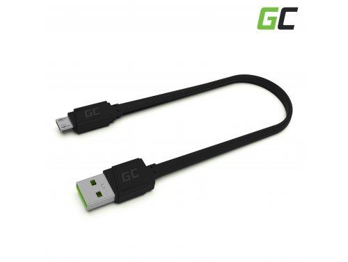 Cavo GCmatte Micro USB Piatto 25 cm con supporto di caricamento veloce