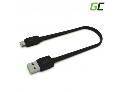 Green Cell GCmatte USB - Cavo micro USB da 25 cm, ricarica rapida Ultra Charge, QC 3.0