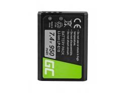Green Cell ® Batteria LP-E10 per Canon EOS Rebel T3, T5, T6, Kiss X50, Kiss X70, EOS 1100D, EOS 1200D, EOS 1300D 7.4V 950mAh